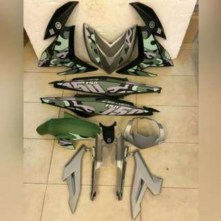 yamaha y15 coverset (army)