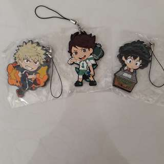[Instock 🐳] Anime Rubber Strap Keychain