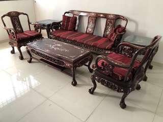 Antique rosewood sofa set