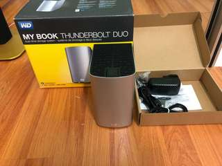 In new condition 8TB My book thunderbolt duo