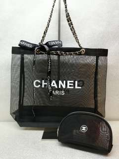 Chanel Net Tote Pouch Set