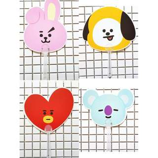 BTS BT21 Hand fan cooky tata shooky chimmy koya mang van rj