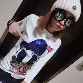 PO-Donald Duck long sleeve shirt - white