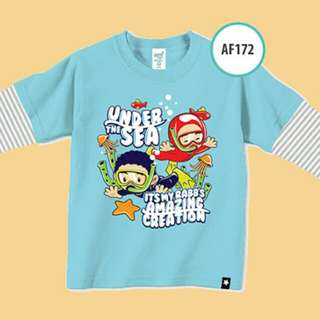 "Kaos Muslim Anak ""Afra Kids"" - Lengan Panjang - Size L"