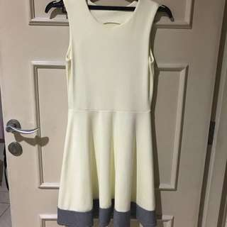 Yellow and Grey Dress