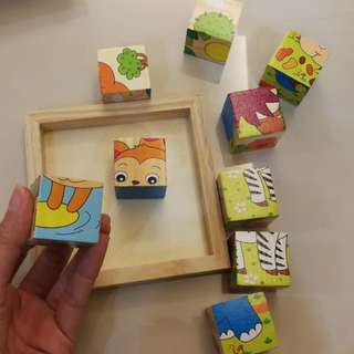 Wooden blocks puzzle