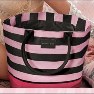 Victoria's Secret Beach Tote Bag In Stripes
