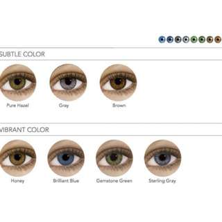 Air optix colours monthly disposable lens