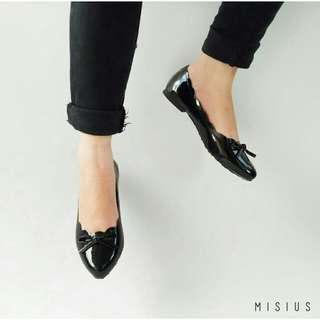Sepatu wanita - YOVIKO sepatu balet flatshoes - sepatu kuliah - hitam