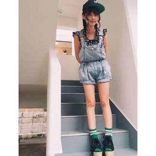 🚚 日本品牌 Fig&Viper 牛仔吊帶褲 牛仔連身褲  #超取再七折