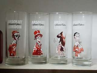 Collectible Absolut London Glasses