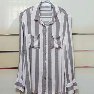 Stripes Chiffon Shirt