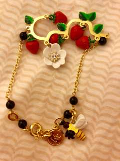 法國🇫🇷N2手鏈 🍓Mon Potager & Moi Collection🐝🍃Branch of Strawberry Plant Bracelet💝