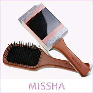 Missha Wooden Cushioning Hair Brush Comb
