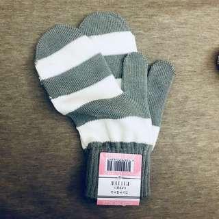 🚚 超可愛日本帶回針織連指手套