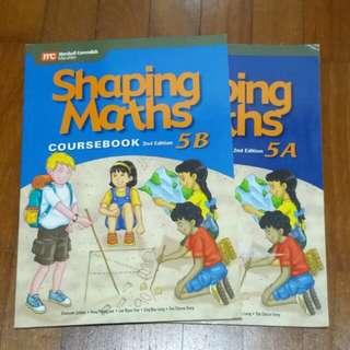 $5 for both. Unused! 5A & 5B Shaping Maths Coursebook