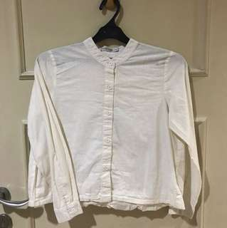ATTIC+WILLOW BrokenWhite Shirt with Back Detail