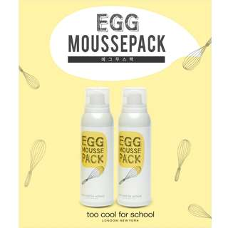 NEW! Too Cool For School Egg Mousse Pack (100ml)