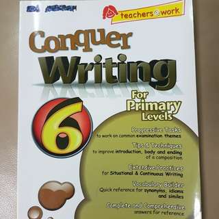 P6 English Conquer tips & techniques on composition. vocabulary. no ans sheet. idioms.