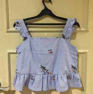 CHOCOCHIPS Blue Checkered Top