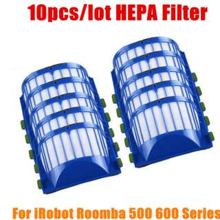 10Pcs HEPA brush Filter Replacement for iRobot Roomba 500 600 Series 536 550 551 620 650 Vacuum Cleaner parts accessories