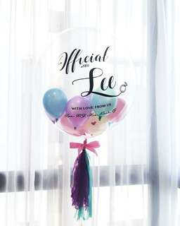 "Customized 24"" bubble balloon"