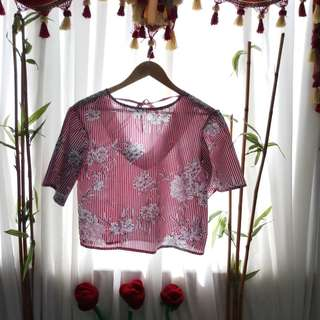 Floral Blouse with tie ❤