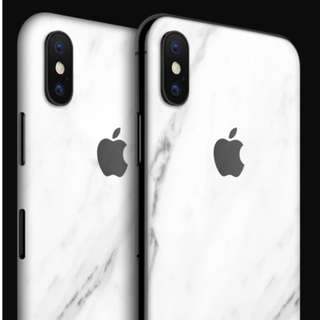 100% New dbrand skins for iPhone X (White Marble)