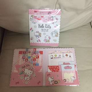 BN sealed Authentic Sanrio Original Hello kitty from Japan. Notepad letters envelope stickers set
