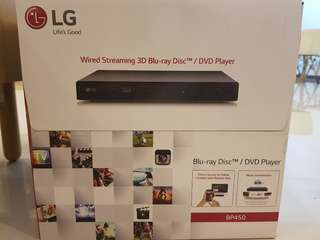 {New} LG wired streaming 3D Blu-ray Player/ DVD player BP450