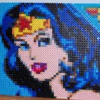 Wonder Woman Hama Bead Design