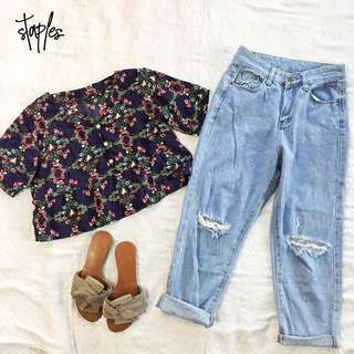 Ripped Boyfriend Jeans (Code-Charlie)