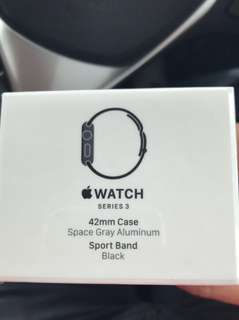 Apple Watch Series 3 Space Gray Aluminum Case with Black Sport Band