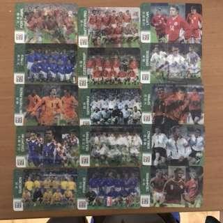 2002歐洲國家杯 7-11特別版球隊球員卡15張