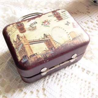 Bon Voyage (#2) - Vintage Travel Themed 'Luggage' Tin.