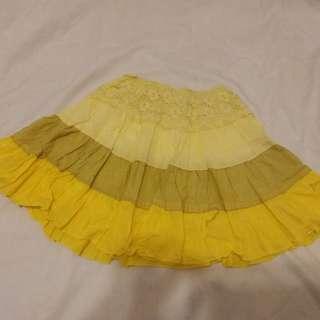 New Short Yellow multitoned summer skirt