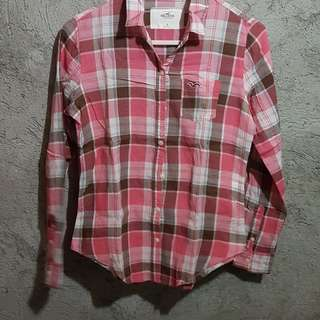 PAYDAY SALE💖:Hollister Pink Longsleeve Blouse