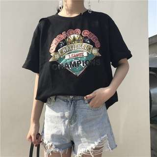 KOREAN FASHION LOOSE SHORT SLEEVES SHIRT
