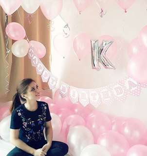 Dainty pink balloon