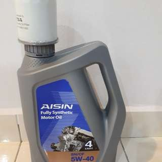 Engine oil fully synthetic 5W40 for sale - Aisin