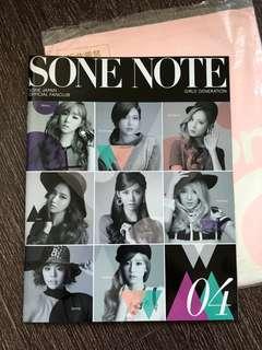 少女時代 雜誌 Sone Note Vol4