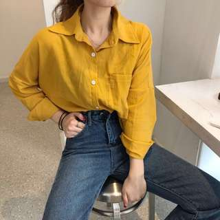 🍃 #242 Ulzzang Basic Button Up Top (PO)
