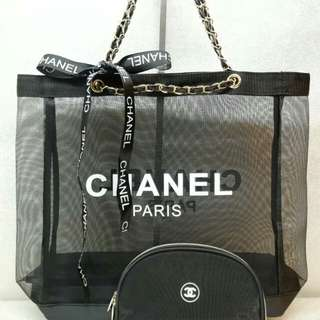 Chanel 2 in 1 Tote Bag with Pouch