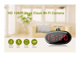 Spy Camera Clock Wifi With Rotating Lens