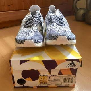 Adidas UltraBOOST Uncaged white navy womens