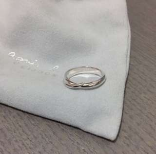 (NEW) Agnes b 925 Sterling Silver Ring