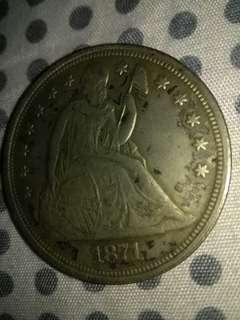 Silver eagle 1871 Rare Coin