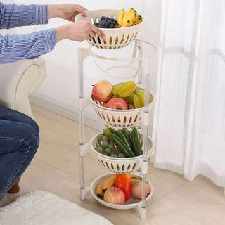 4 Layer Multi-Purpose Removable Basket Stand