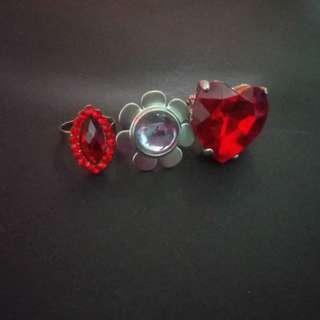 Rings (oval, flower, heart)