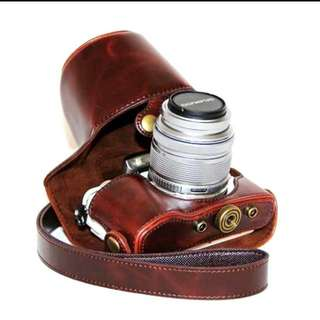 Olympus E-PL8 vintage leather case